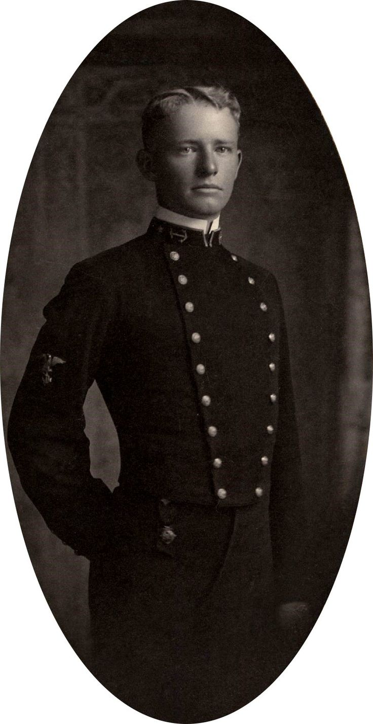 Midshipman Chester William Nimitz, future Fleet Admiral of the United States Navy.