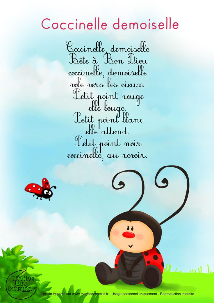 Paroles_Coccinelle, demoiselle