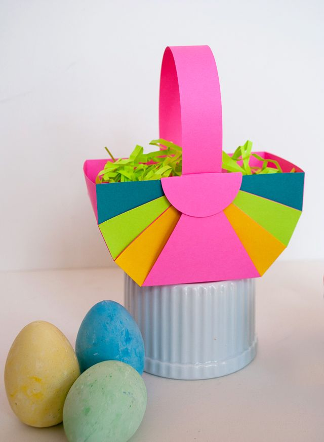 Handmade Paper Baskets Step By Step : Easy diy paper easter basket and astrobrights