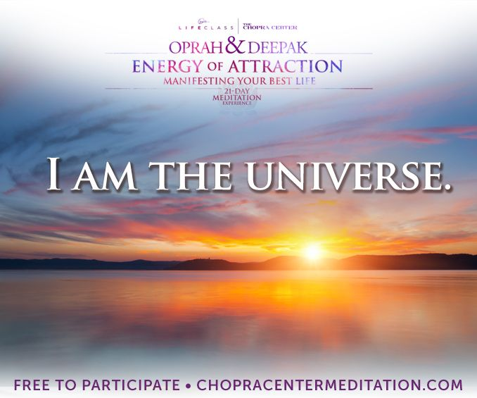 Welcome to Day 22 – I Am the Universe – our bonus day! #EnergyOfAttraction. May your inner peace shine today, and light up the world around you.