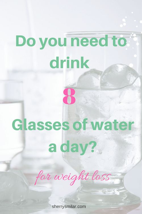 Staying hydrated is important, but is drinking 8 glasses of water every day necessary if you are trying to lose weight? #weightloss