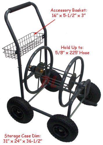 Mobile Garden Hose Reel Cart Up To X
