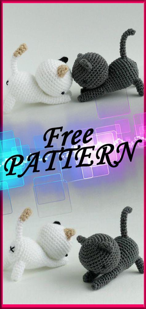 Easy Crochet Amigurumi Cat With Pattern #crochet,#free,#patterns ...