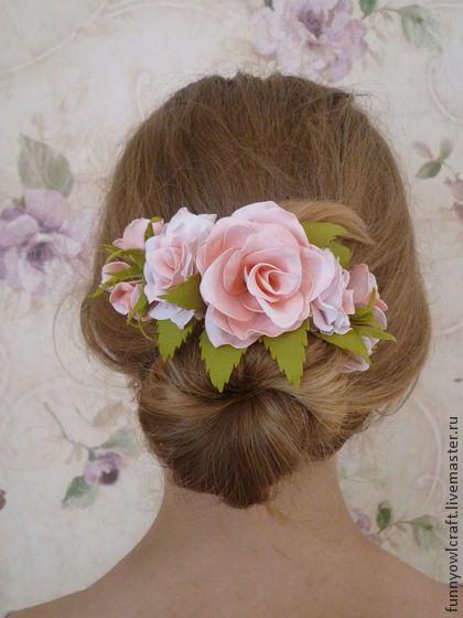 Lovely Bride - украшение для волос,бледно-розовый,для девушек,фоамиран