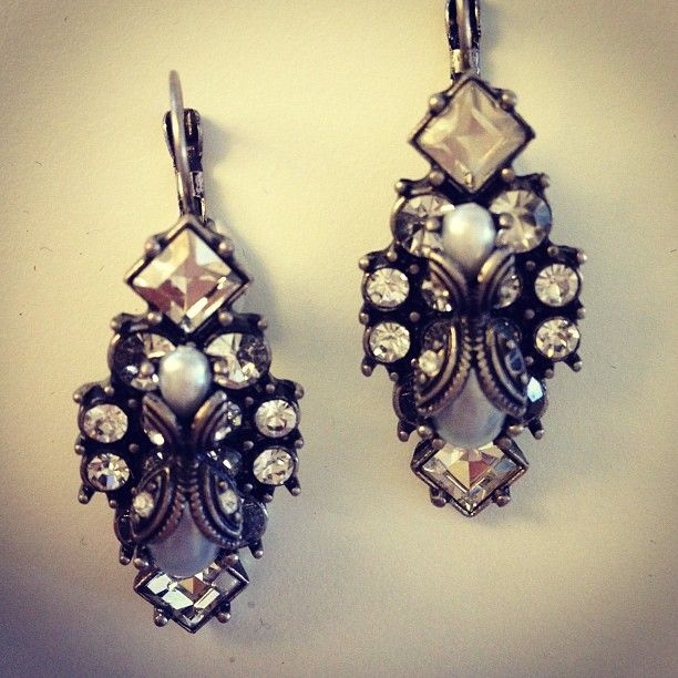 SAMANTHA WILLS - BRIDAL BOUTIQUE www.samanthawills... Earrings Vintage Bride Bridesmaids Turquoise Crystal Wedding Love Jewellery Jewelry Pearl
