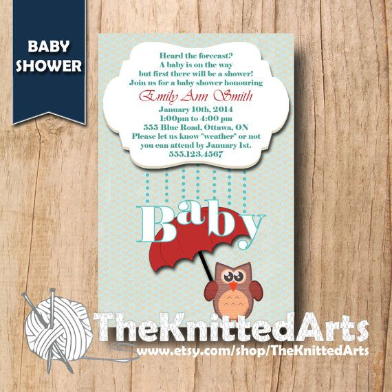 Baby Shower Invitation. 4x6. Rain Showers. Customized then Print at Home.