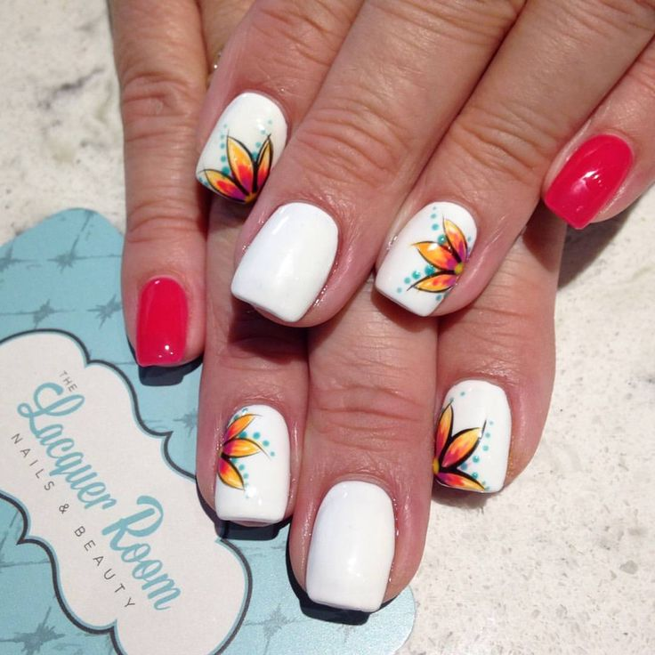 """141 Likes, 2 Comments - The Lacquer Room (@thelacquerroomkc) on Instagram: """"A vacation to Hawaii calls for floral nail art!"""""""