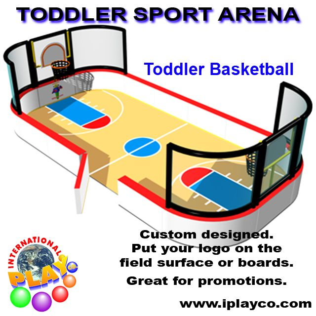 Toddler Basketball Arena - soft foam play ~ indoor playgrounds by Iplayco www.iplayco.com