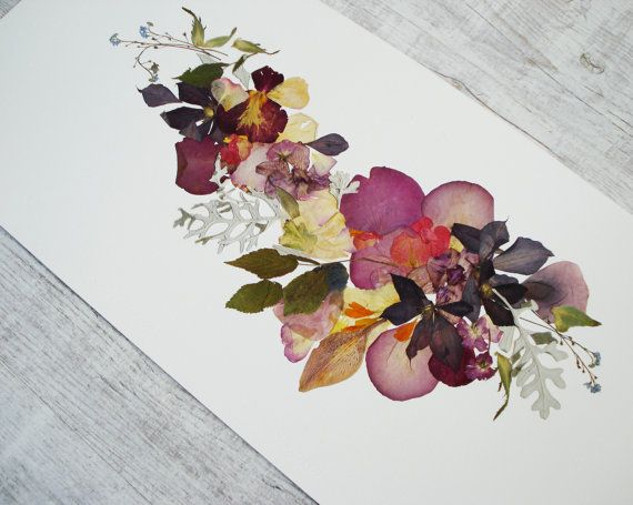 floral art from real pressed flowers framed art by