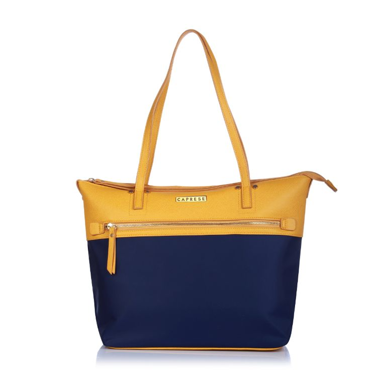Yellow & Blue handbag at 50% off.