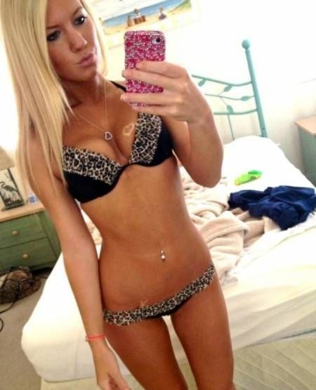 Gorgeous blonde teen displays her desirable body