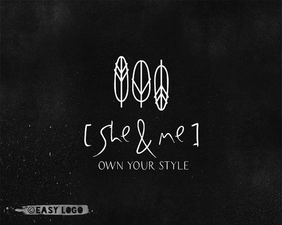 Simple Feather Logo Design. Copper Premade Logo. by easylogo