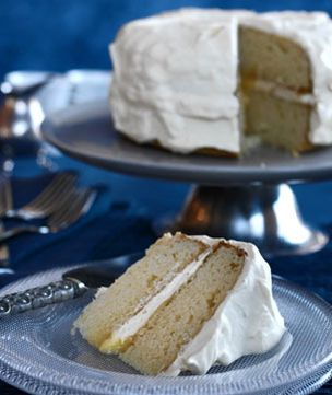 This cake is lovely and moist. It can be served as two separate cakes if you prefer and it freezes well.
