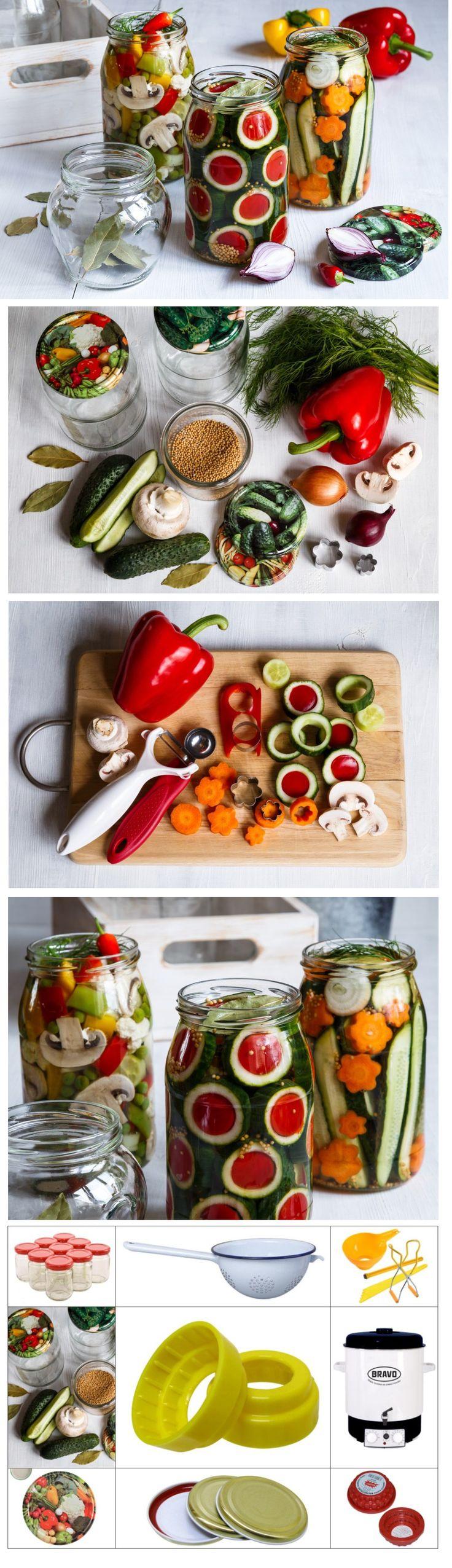 Malá umělecká díla se dají vykouzlit i při zavařování. Stačí si vzít na pomoc vykrajovátka a krásné sklenice. Sklenice se šroubovacími víčky najdete na e-shopu a recept na chutnou zeleninu na blogu.
