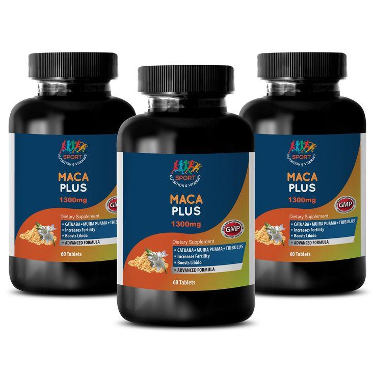 fertitliy diets - Support libido MACA PLUS Maca root tablets fertility 3 Bottles 180 Tablets