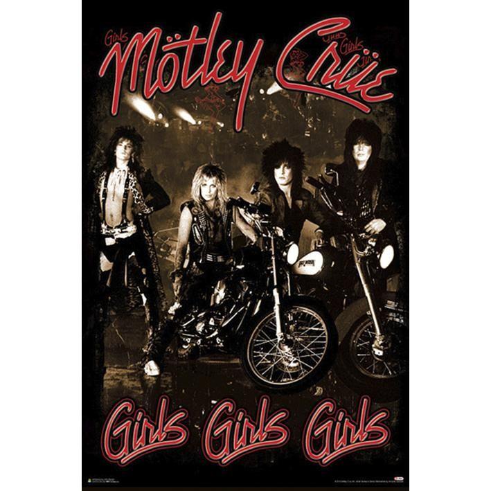 "Poster vericale ""Girls, Girls, Girls"" dei #MötleyCrüe. Dimensioni: 61 x 91,5 cm."