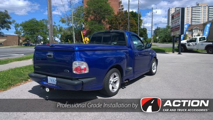 Check out this Ford Lightning with a newly installed LSII Fiberglass tonneau cover by A.R.E.