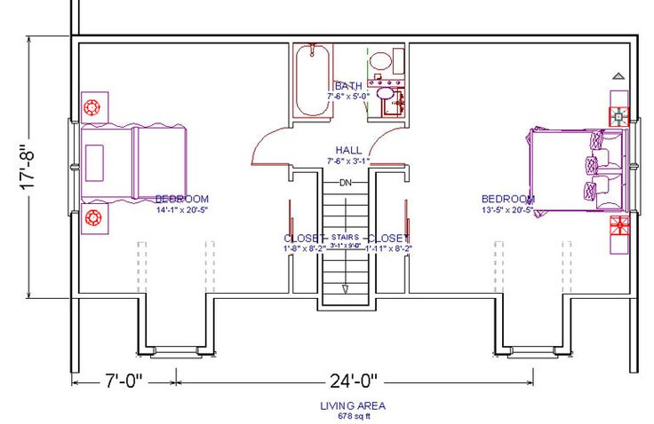 2 Bedrooms And 1 Bath Attic Plans For A Small Cape In 2019