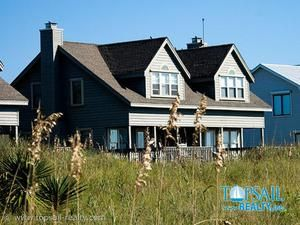 Topsail Island rental: Tranquil Breezes (1A) - Oceanfront 2 bedroomsduplex in Serenity Point, Topsail Beach,