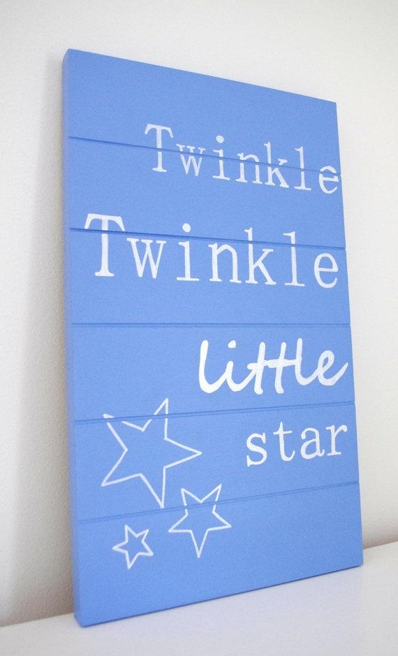 Pallet Art  Nursery Art  Twinkle Twinkle Little by CountryChiq, $60.00