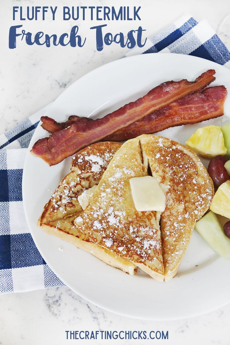 Fluffy Buttermilk French Toast Recipe - A family favorite breakfast recipe! #WinderFarms #ad
