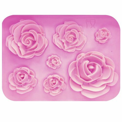 1Pc 3D Rose Flower Leaf Silicone Mold Cake Chocolate Sugarcraft Fondant Mould