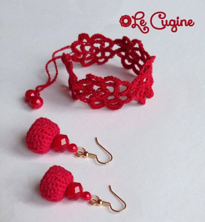 Lecuginecreazioni#handmade#crochet#parure#red