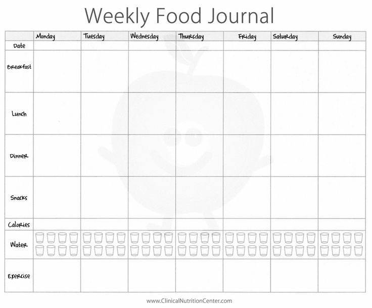 exercise and food journal