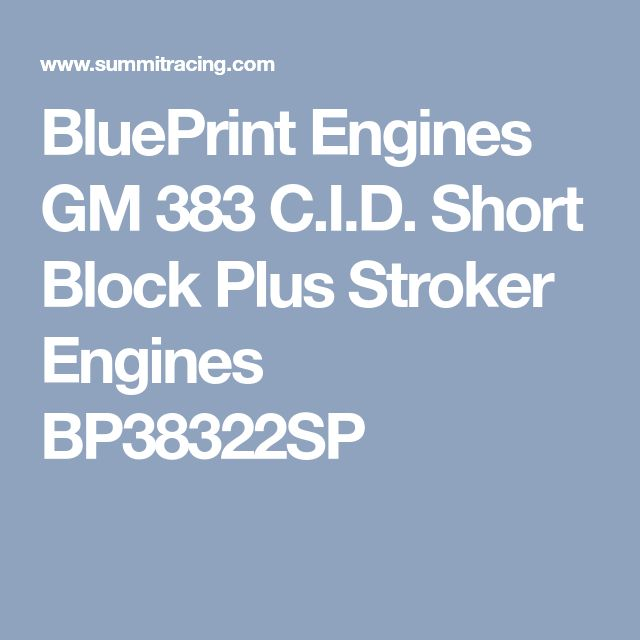 The 25 best crate engines ideas on pinterest car engine engine blueprint engines gm 383 cid short block plus stroker engines bp38322sp malvernweather Gallery