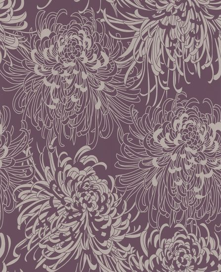 17833 monsoon chrysanthemum purple wallpaper purple floral for Monsoon wallpaper