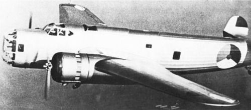 Rare picture of a Fokker T V (5) medium bomber in flight, must be in 1939 or 1940.