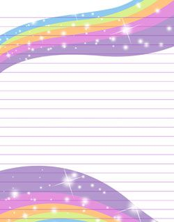 free printable rainbow stationery