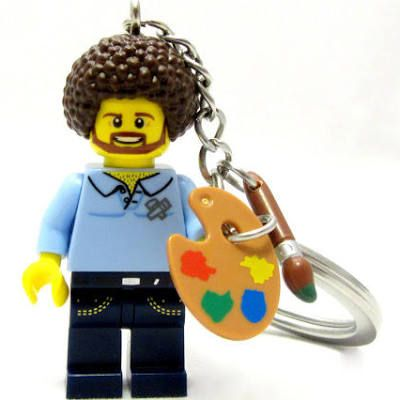 Art Ed Central loves this BOB ROSS Happy Little Keychain ...