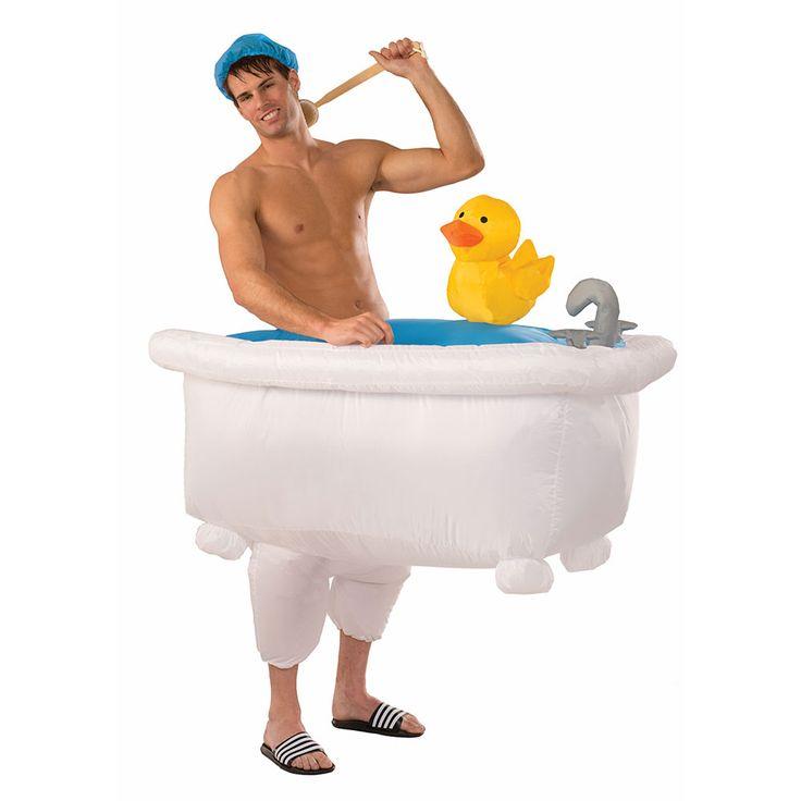 Adult Good Clean Fun Inflatable Bathtub Costume - $57.95…