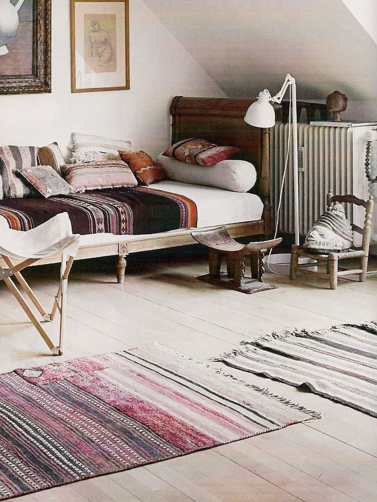 I also really love (and this is more the idea I was thinking of for the den) of kilim vintage pillows. I want that room to feel more eclectic and boho than the rest of the house
