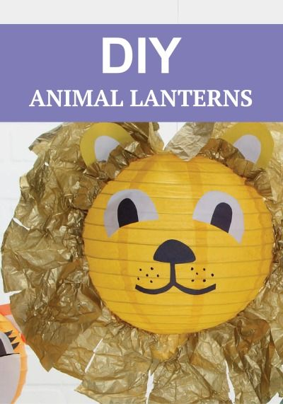 How cute are these little animal parade paper lanterns. These are a fun accessory for any child's room. :)
