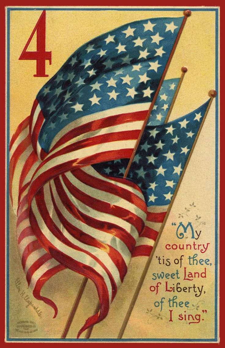 My Country 'Tis of Thee ~ vintage Fourth of July card ~ artwork by Ellen Clapsaddle | via Amy Barickman