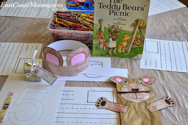 Teddy bear theme lesson plan. Tons of fun FREE crafts and printable worksheets.