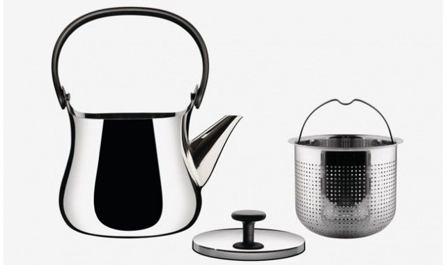 A kettle and teapot in one, Cha Teapot is a beautiful accessory for the stovetop with minimalist ideas combining two functions into one modern kitchen accessory. Also a great item to put on your modern wedding registry at www.fitzsu.com