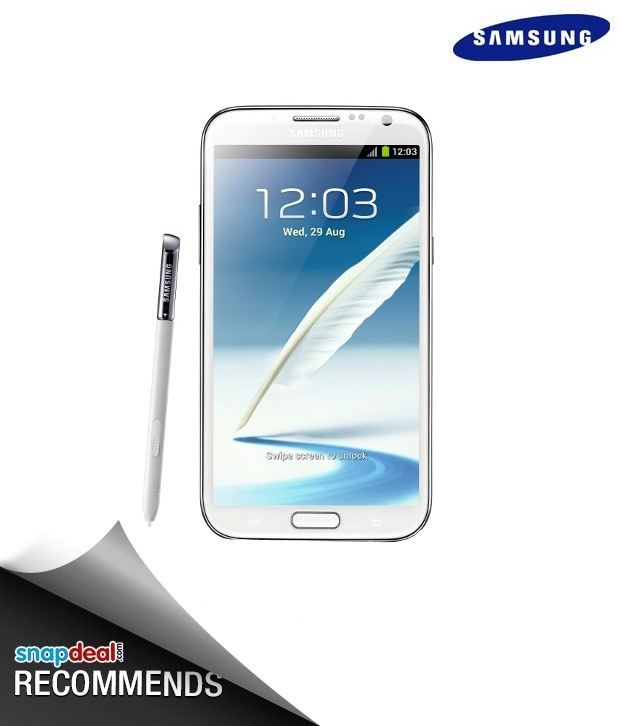 Samsung Galaxy Note II N7100 (White), http://www.snapdeal.com/product/samsung-galaxy-note-ii-n7100/419410?storeID=mobiles-mobile-phones_wdgt4in1_419410      #Snapdealbestproducts