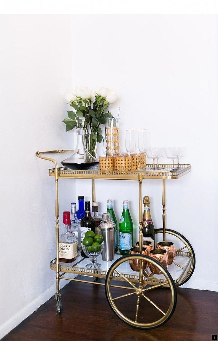 Look At The Webpage To See More On Serving Cart On Wheels Just Click On The Link For More The Web Presen Gold Bar Cart Fall Dining Room Bar Cart Decor
