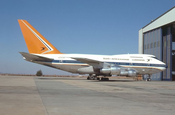 South African Airways Boeing 747SP at Jan Smuts Airport, Johannesburg  - 1978