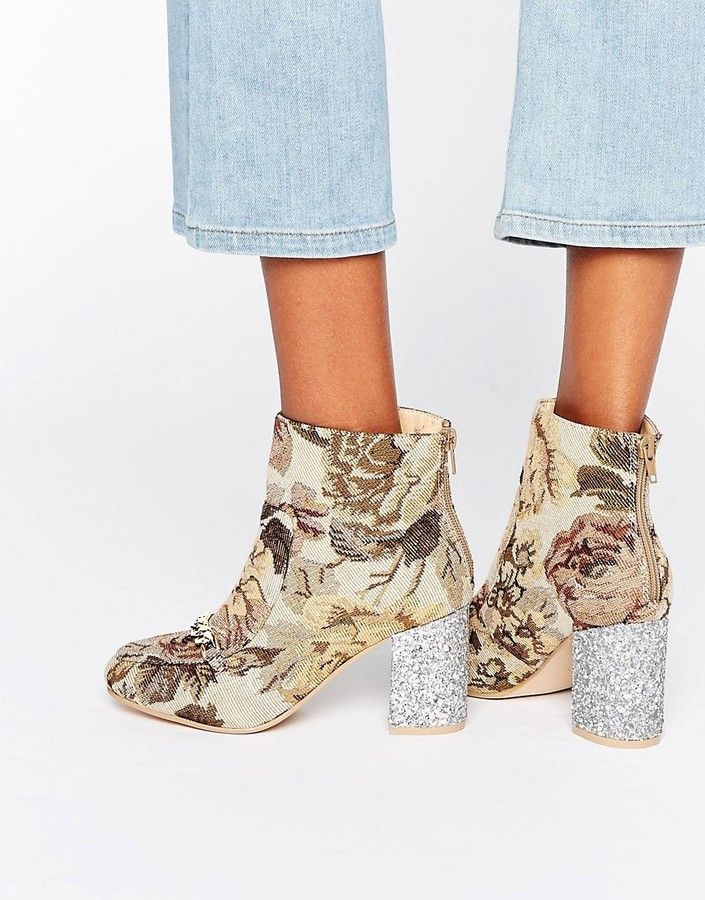 Asos Ramma Chain Ankle Boots