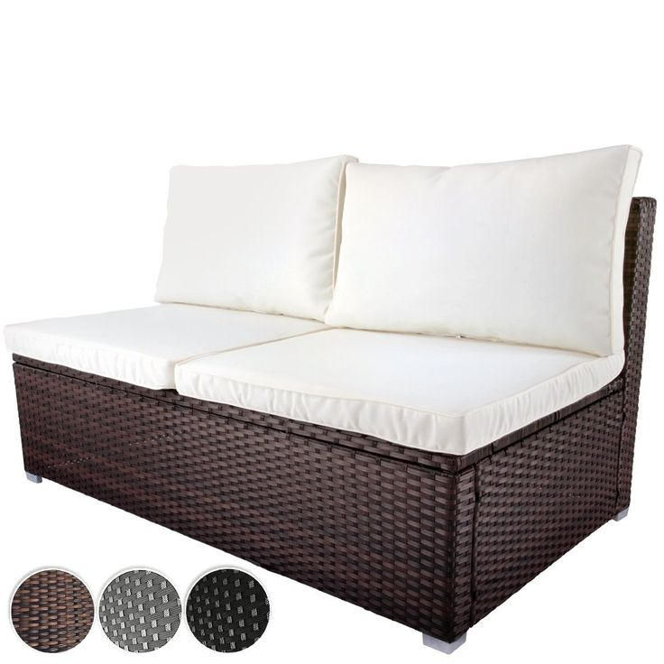 Awesome Enjoy your garden in fort Durable and stylish Poly Rattan Two Seater Sofa from This two seater sofa made of sturdy poly rattan and fortable polyester