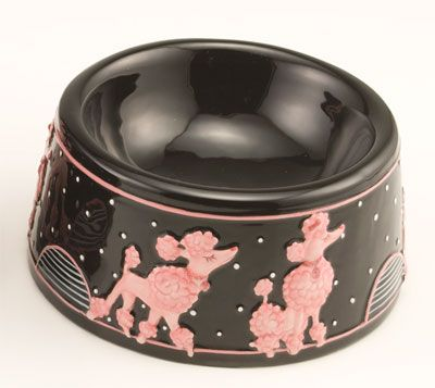 poodle dishes   Poodle pet dish - large Poodle pet dish - small Poodle round plate ...