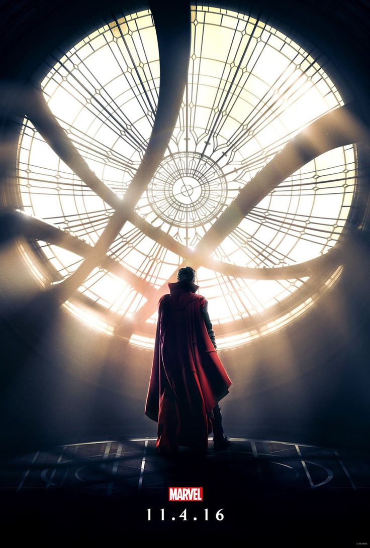 Marvel has unveiled a poster for Doctor Strange, featuring our first look at the Sanctum Sanctorum. The artwork features Benedict Cumberbatch (Sherlock) as the title character in the 14th film in the Marvel Cinematic Universe, which finished filming in New York earlier this month. The movie's first trailer makes its debut in the US later tonight on The Jimmy Kimmel Show. Directed by Scott Derrickson...