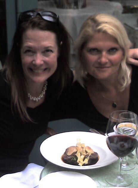 Westin Paris terrace avec ma belle cousine Laurence!