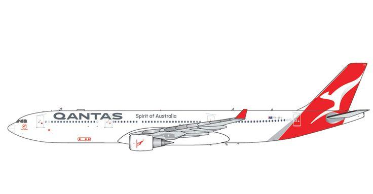 1/200 GeminiJets Qantas Airbus A330-300 Diecast Model