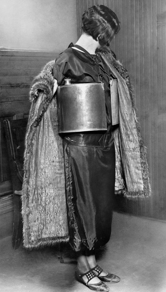 "Jennie MacGregor, scooped up by the Minneapolis police on April 10, 1924 for ""dispensing wet goods"" from her bootlegger's ""life preserver""."