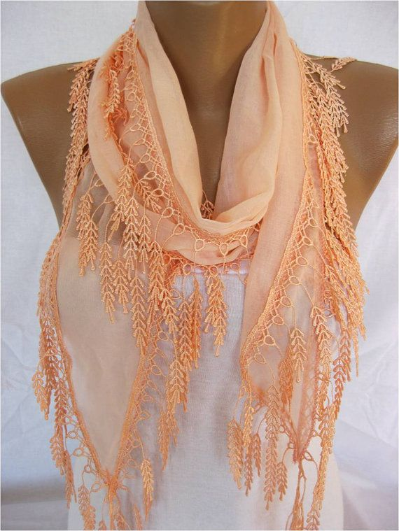 Cotton Scarf with Trim Edge ShawlSummer collection by MebaDesign, $13.90